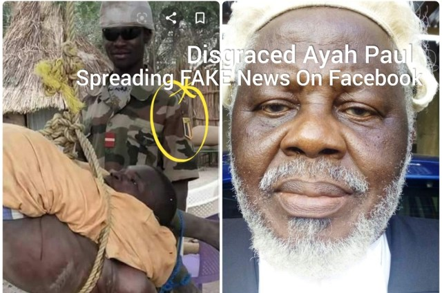 Disgraced Ayah Paul Abine is spreading Fake news on Facebook