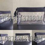 konveksi pouch mika atau pvc custom