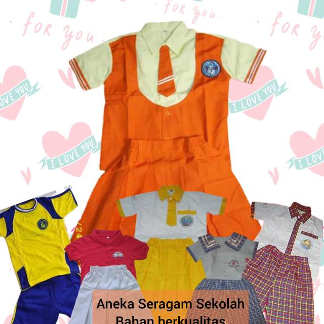 gambar baju seragam sekolah anak tk di Tangerang Banten
