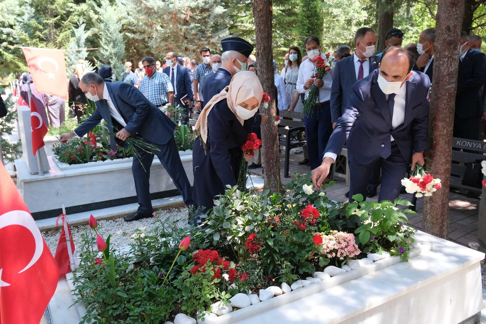 Konya'da 15 Temmuz etkinliklerinde şehitler dualarla yad edildi
