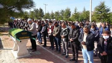Konya'da öldürülen apartman görevlisi son yolculuğuna uğurlandı