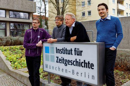 Az új kiadást készítő német kutatók; forrás: Institut für Zeitgeschichte