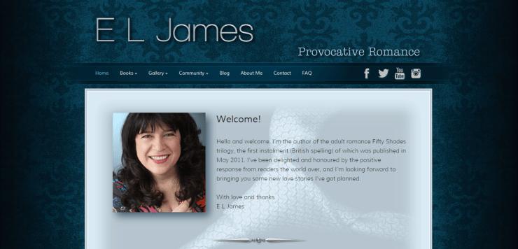 E. L. James honlapja