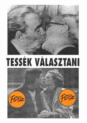 Fidesz-plakát, Tessék választani, rendszerváltás
