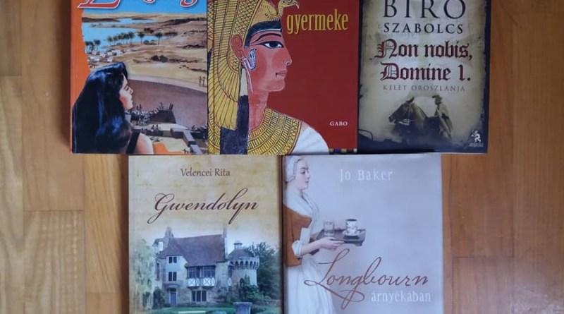 történelmi regények borítói