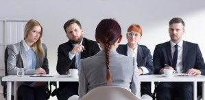 Employee being interviewed during domestic inquiry