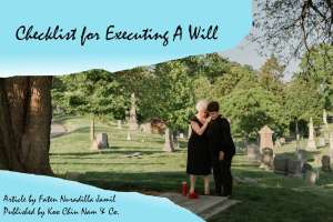 Checklist for Executing a Will