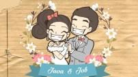 การ์ตูนงานแต่ง จ๊ะโอ๋ ♥ จ๊อบ 7 มกราคม 2560 แนวการ์ตูนแอนนิเมะ น่ารักๆ วาดทุกฉากค่ะ