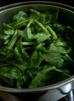 Spinach for Fat Free Pumpkin, Cabbage and Spinach Soup