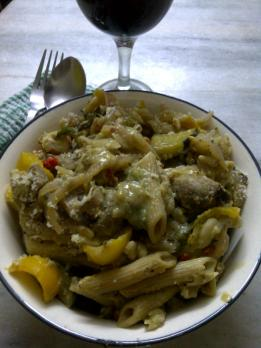 Penne with Butter Bean & Avocado