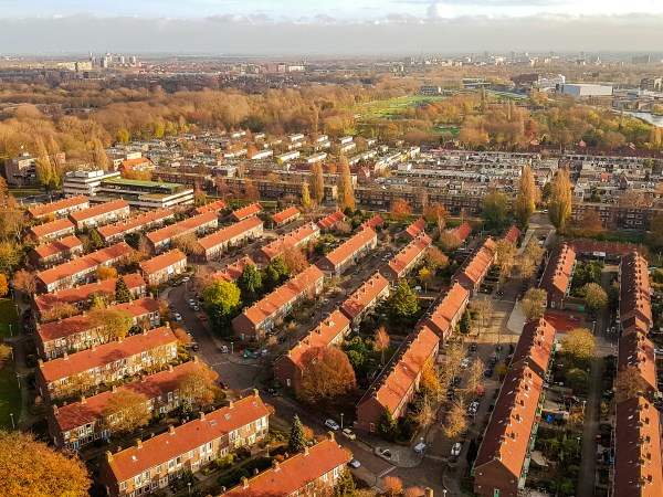 Amsterdam urbanism from above