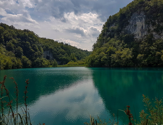 Amazing green colour of the lakes in Plitvice Lakes National Park
