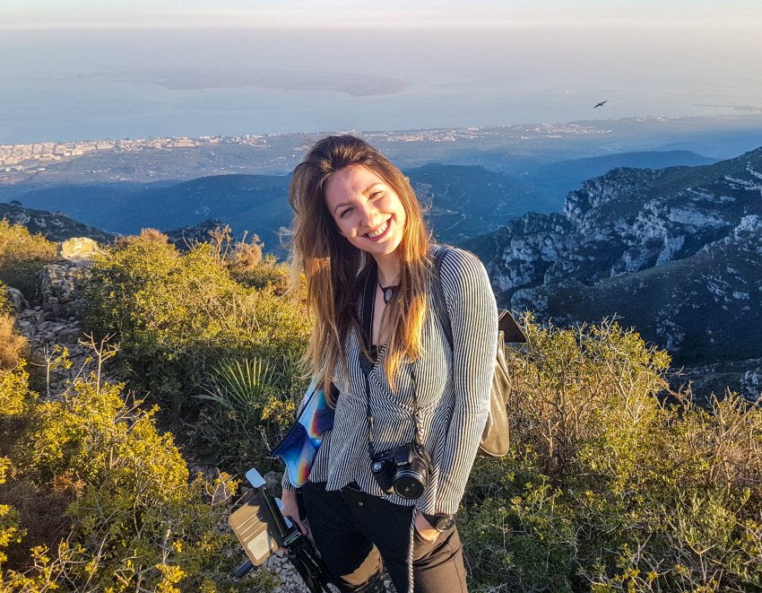 Me from the Serra del Montsia mountain range looking over the Ebro Delta and surrounding little cities