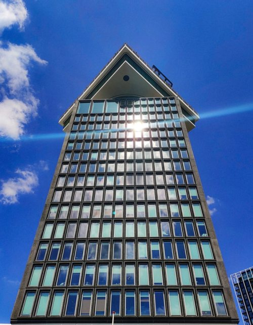 A'DAM tower from frog's perspective
