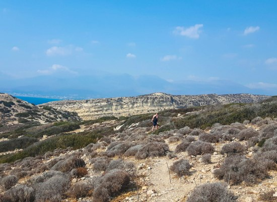 Hiking to Red Sand Beach in Crete
