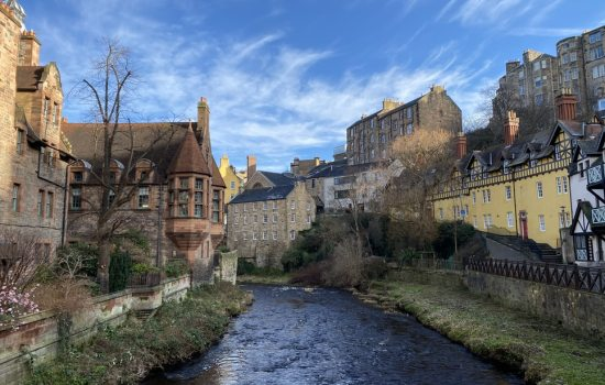 Dean village landscape in Edinburgh
