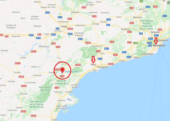 Miravet castle and catalonia on Google Maps