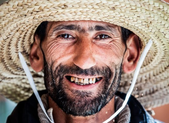 Smiling Moroccon man with a hat
