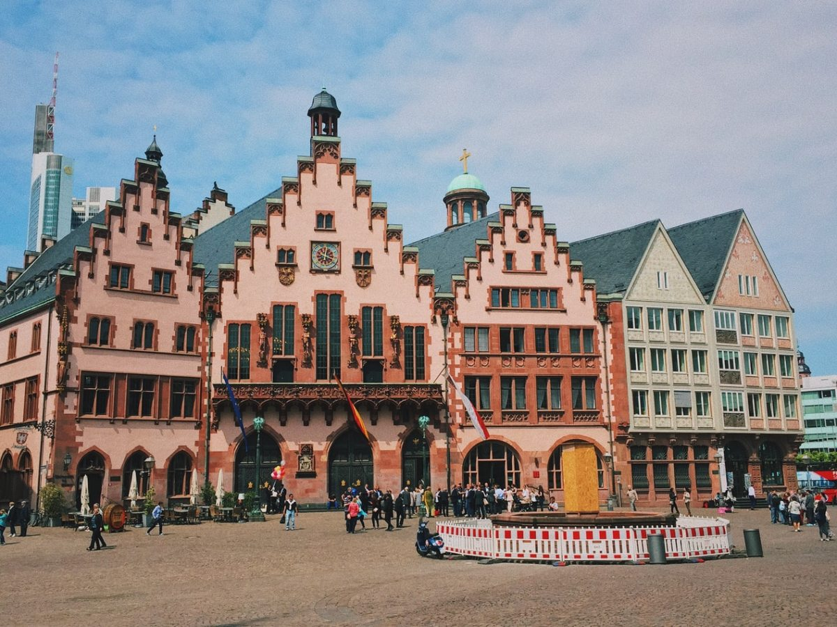Frankfurt city square in Germany