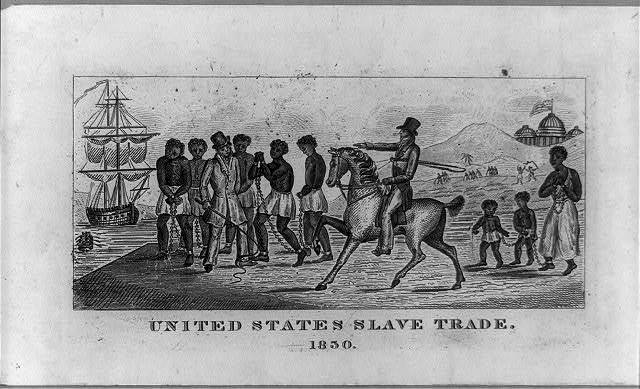 United States Slave Trade black and white photo from 1830.