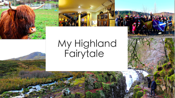 Highland Fairytale: collage of various images found in the post