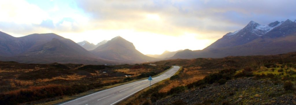 Highland fairytale: road through the Isle of Skye