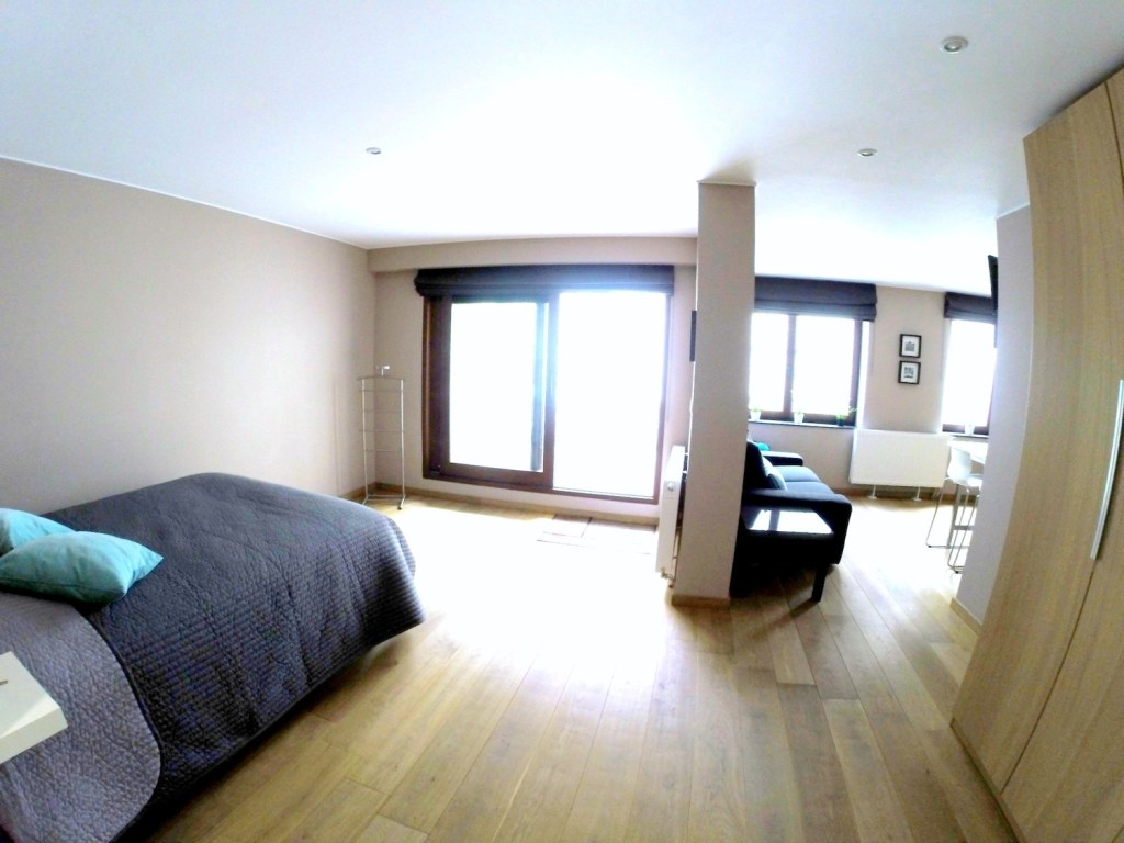 Airbnb Brussels: view of the studio apartment in Brussels