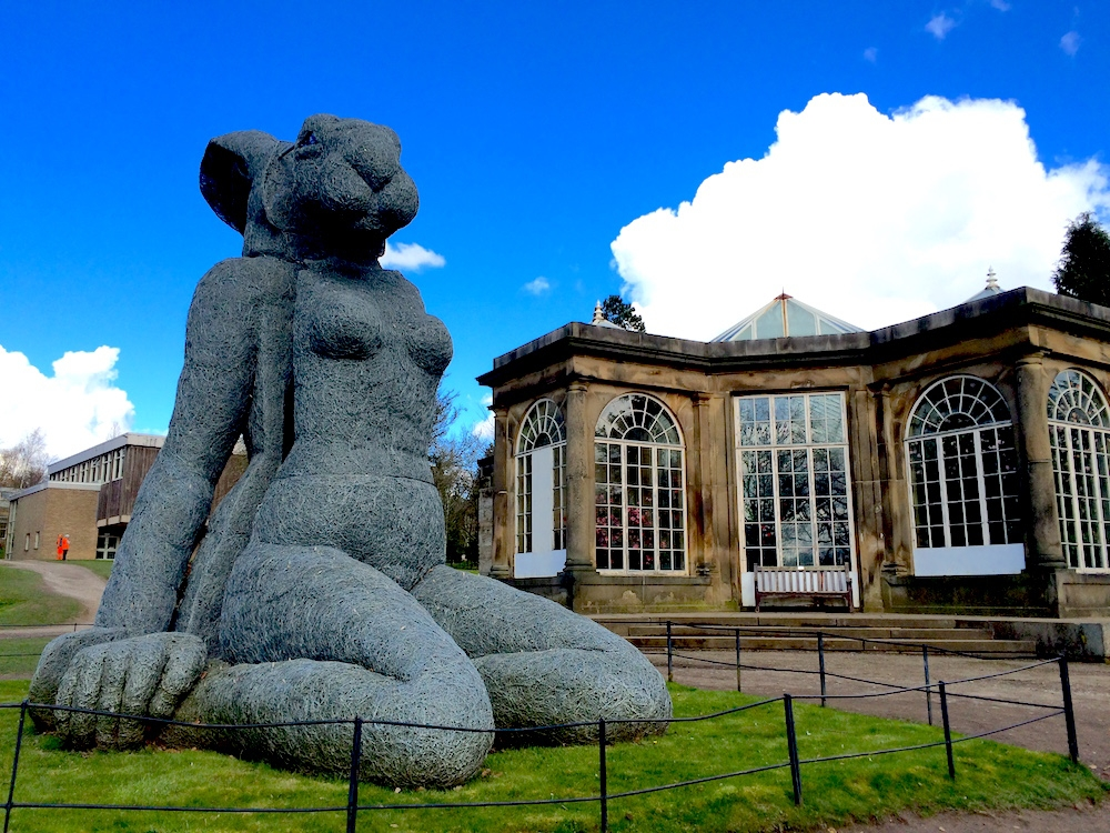 "Yorkshire Sculpture Park: ""Sitting"" by Sophie Ryder (front)"