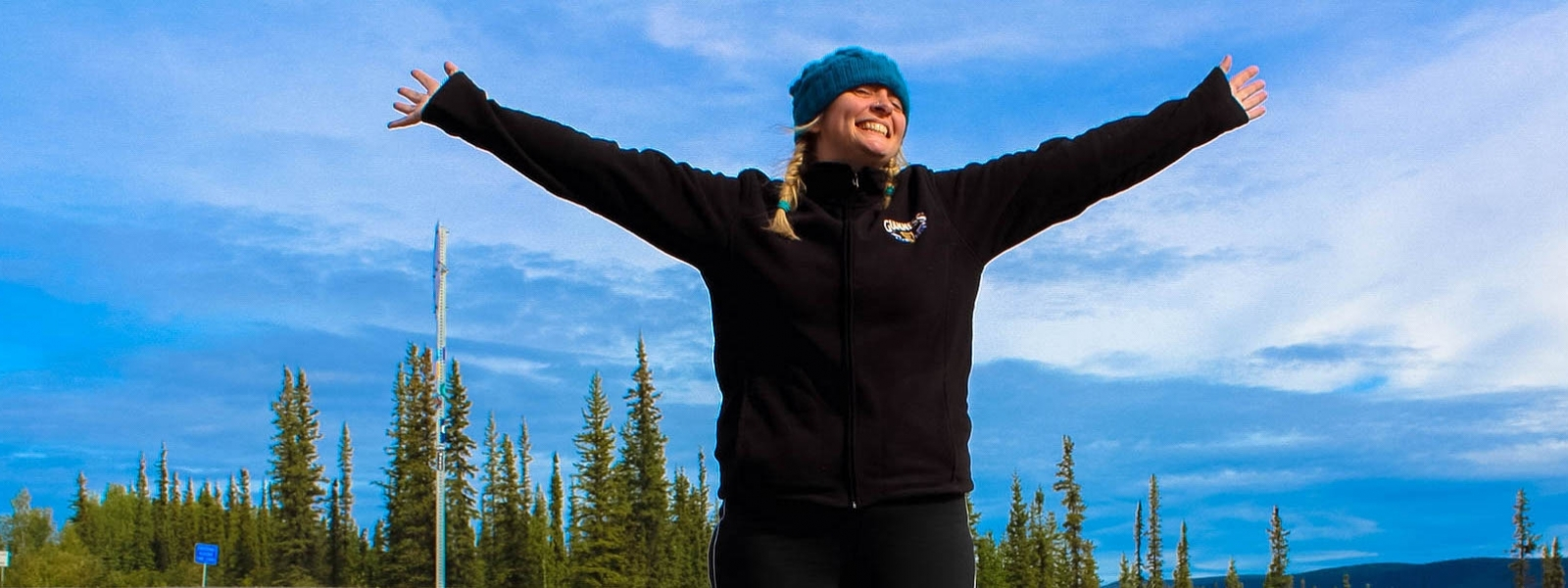 Blogger at kooky traveller, Kirsten Thompson in Alaska