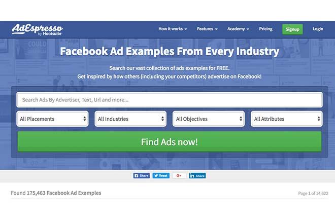 AdEspresso - Inspiration Web Design