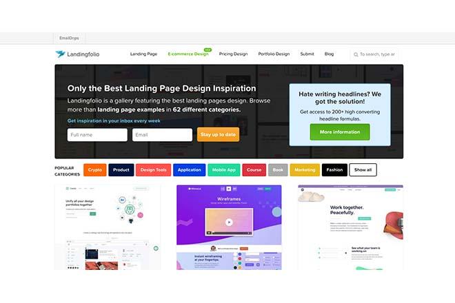 Landingfolio - Inspiration Web Design