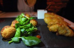 Duck and mackerel croquettes