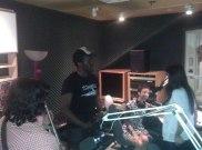 Recording engineer Enoghene Ajueyitsi sets up to record Zeb and Haniya performing Paimona (2)