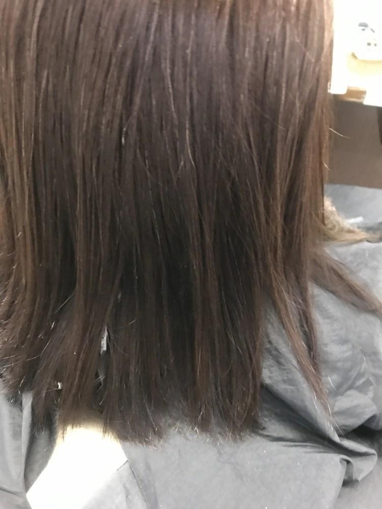 水素トリートメントやった髪の毛