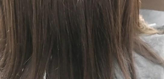 水素トリートメントを施術した髪の毛