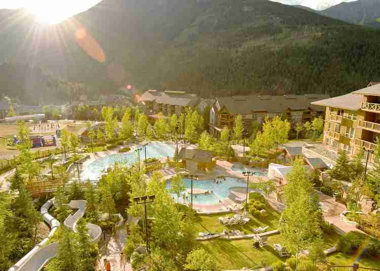Panorama Mountain Resort Pools in the Summer
