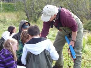 Jim Duncan conducting water education