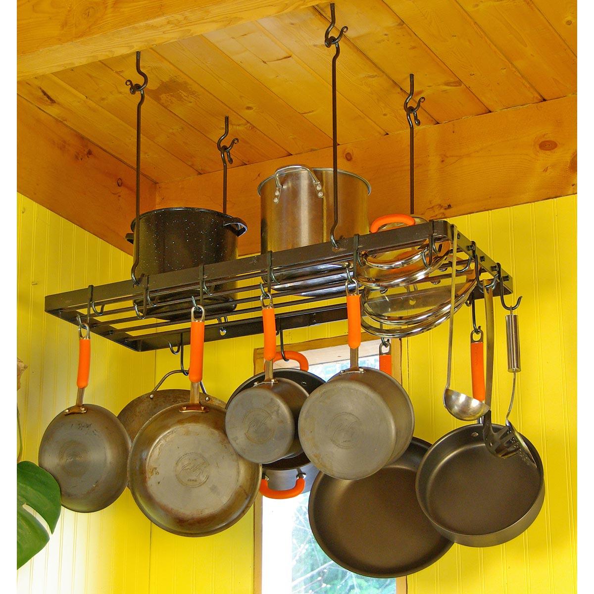 rectangular pot rack