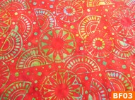 Warm Fleece Lined Winter Bandana WithBatik Fiesta Fabrics