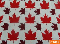 Warm Fleece Lined Winter Bandana With Maple Leaves On White