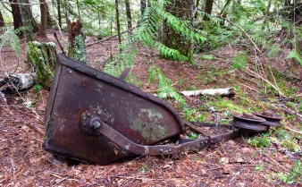 Old bucket from an aerial tramway that was used to move ore