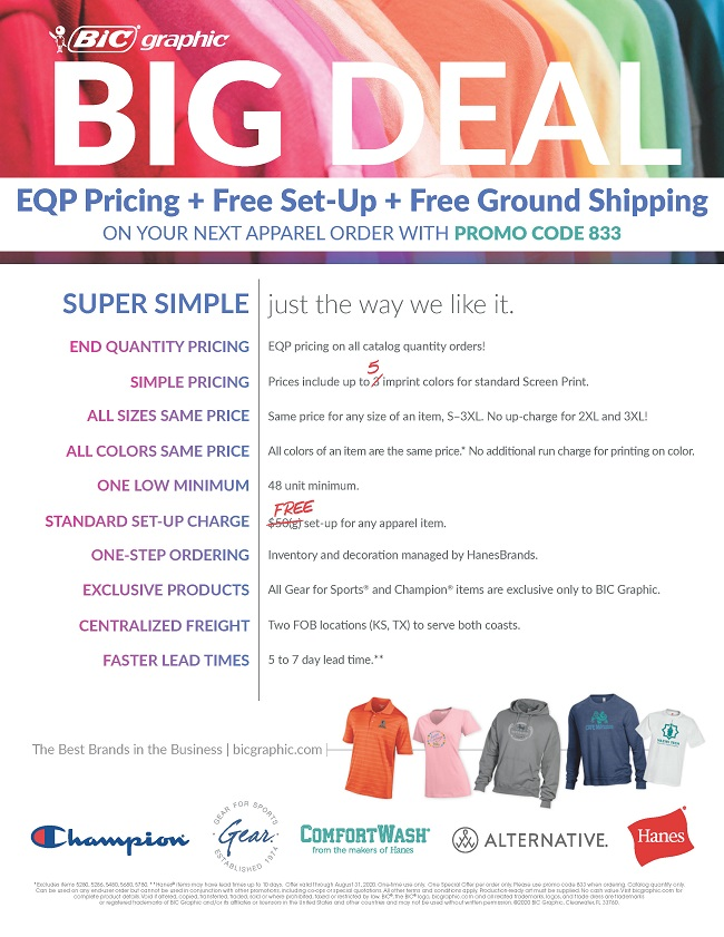BIC-Graphic-Apparel-Special-Offer