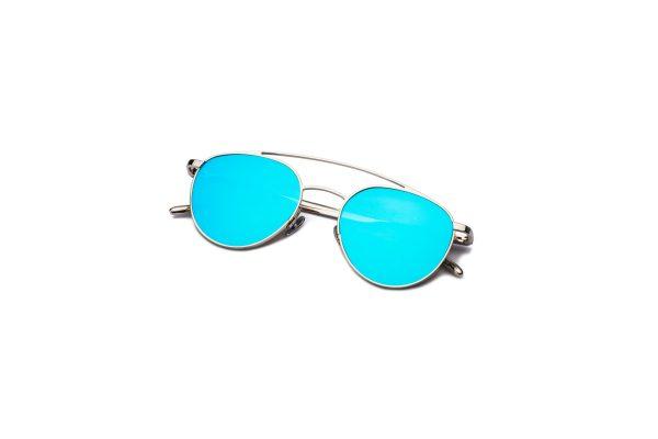 Shiny Silver/Blue Silver Mirror