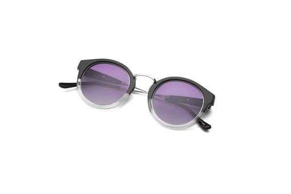 Black-Transparent/Smokey Purple