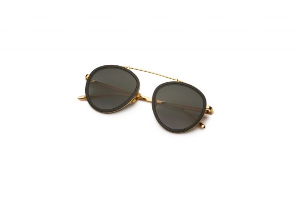 Black-Gold/Smokey Green