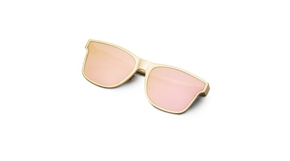 Shiny Gold/Mirrored Pink