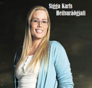 Sigga Karls, heilsuráðgjafi Kópavogsfrétta.