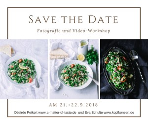 Save-the-date für Food Video Workshop