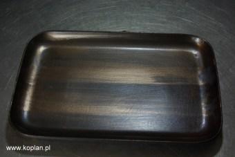 900x600 Koplan_ talerz prostokat szkliwo zlote efektowe
