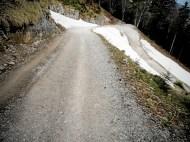 Steile Fahrwegsserpentinen hinauf zum Herzogstand